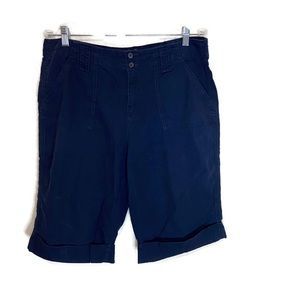 Caribbean Joe  women's Bermuda shorts 14 navy